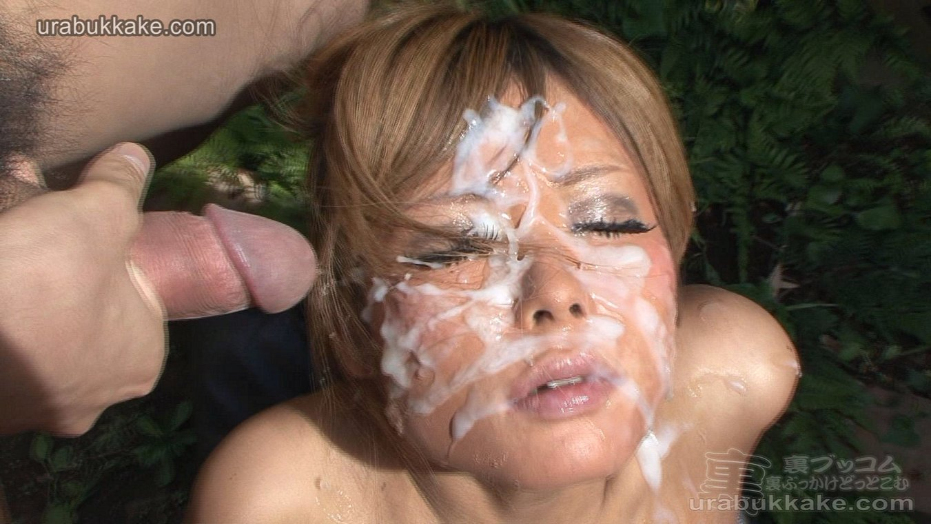 Asian girl bukkake facial