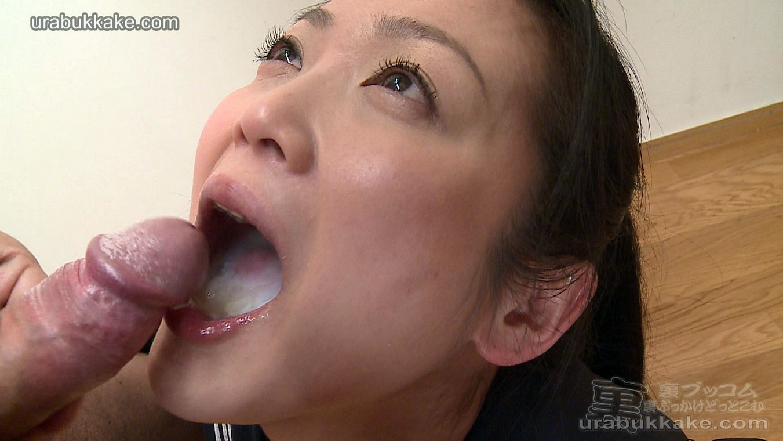 Jap swallows cum porn