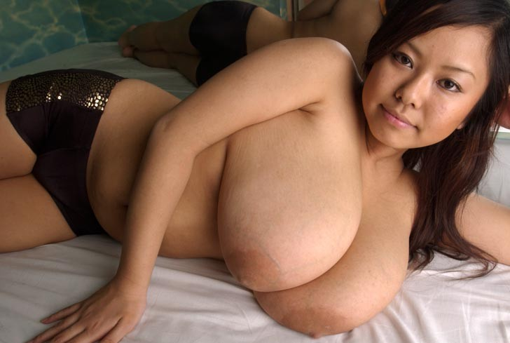 Monster boobs japanese porn star fuko posing in lingerie sorry