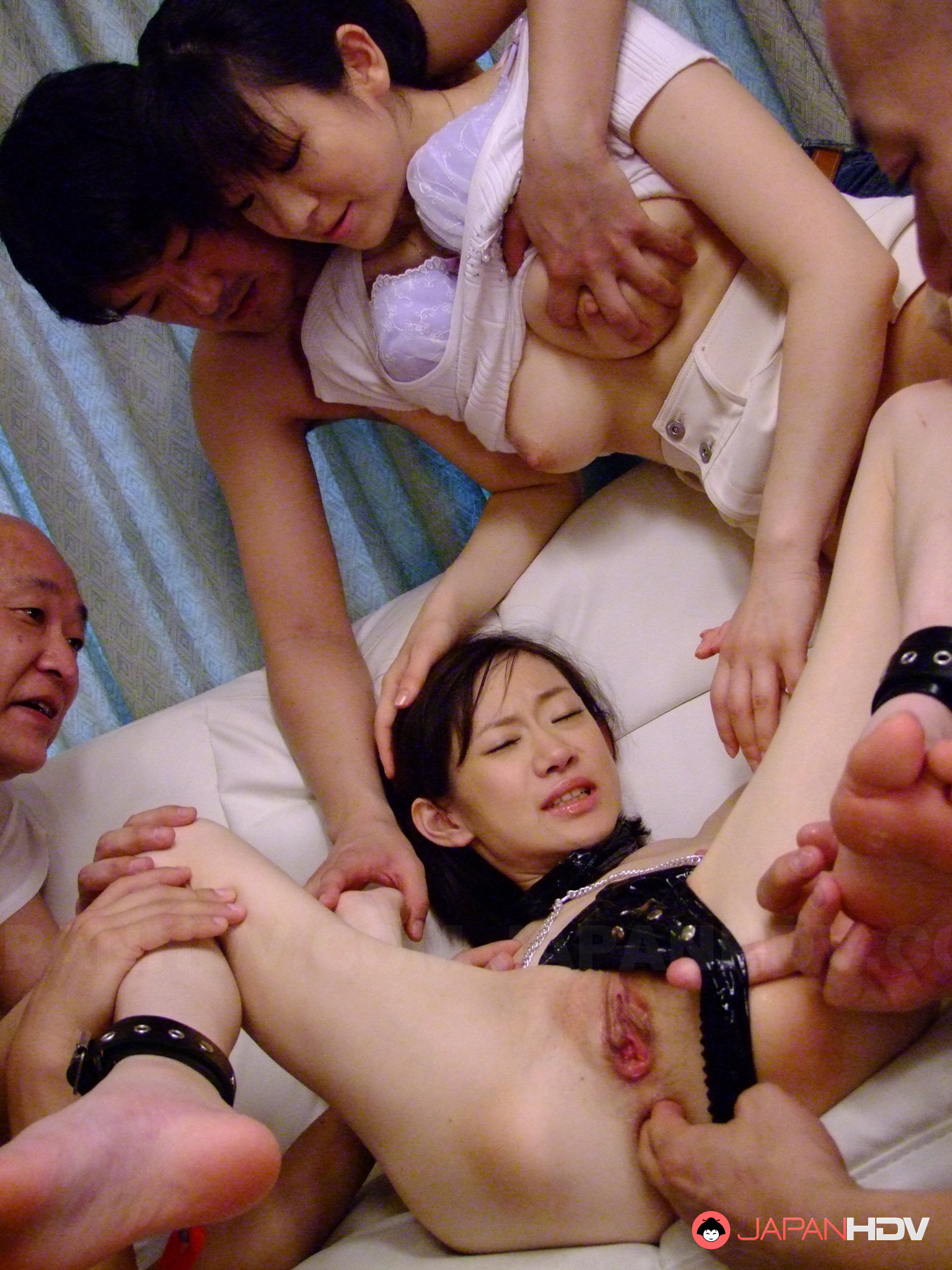 young hot aoba itou gets used in group sex